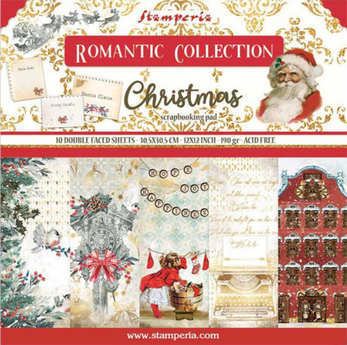 """Stamperia (12""""x12"""") Double Face Paper Pack - Romantic Christmas"""