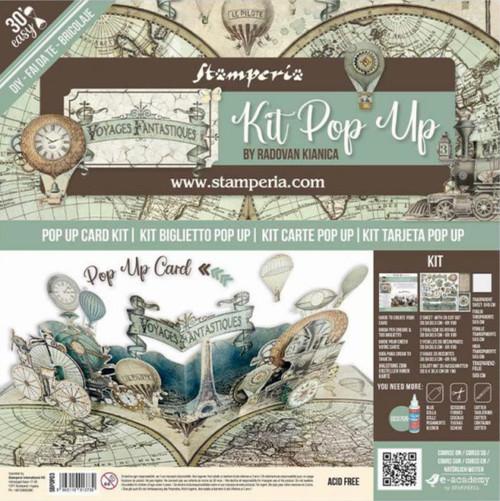 Stamperia Pop Up Card Kit - Voyages Fantastiques