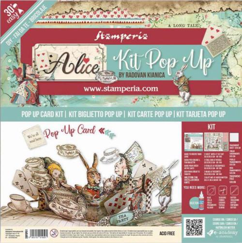 Stamperia Pop Up Card Kit - Alice Tea Party