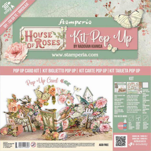 Stamperia Pop Up Card Kit - House of Roses