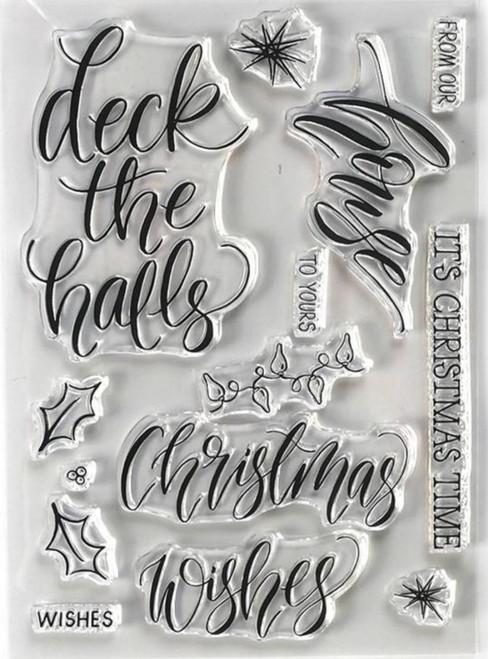 Elizabeth Craft Designs Christmas House Stamp Set