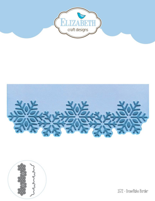 Elizabeth Craft Designs Snowflake Border Die Set