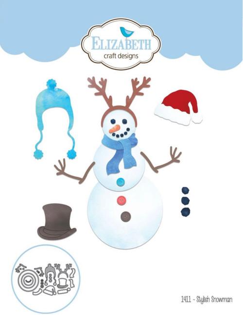 Elizabeth Craft Designs Stylish Snowman Die Set