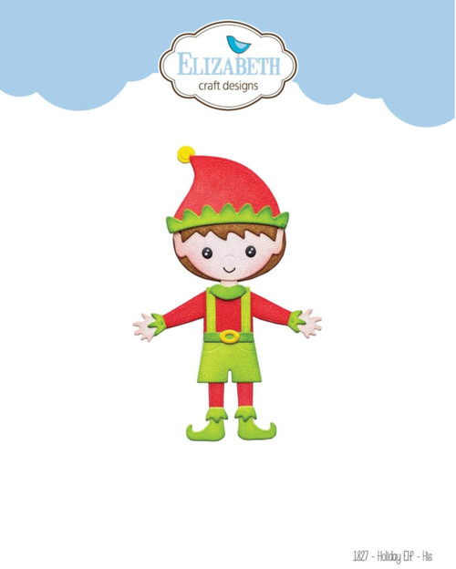 Elizabeth Craft Designs Holiday Elf Die Set - His