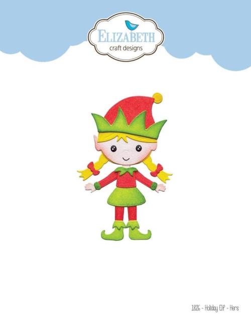 Elizabeth Craft Designs Holiday Elf Die Set - Hers