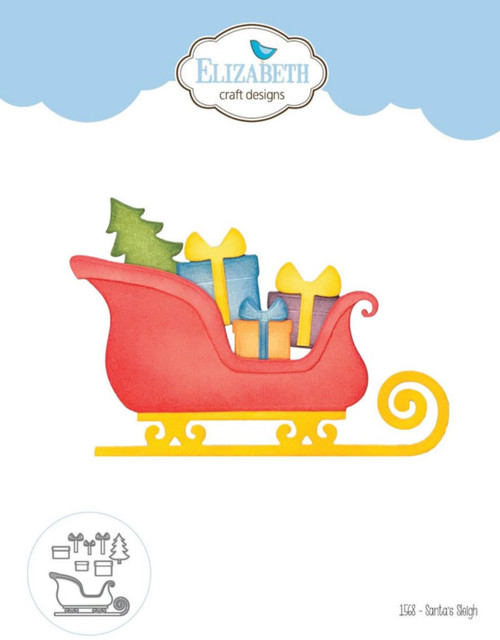 Elizabeth Craft Designs Santa's Sleigh Die Set