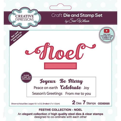 Creative Expressions Noel Craft Die & Stamp Set