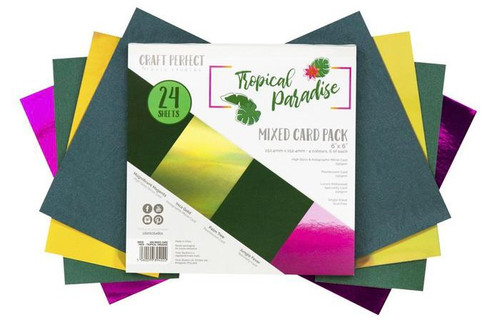 Tonic Craft Perfect Tropical Paradise 6 x 6 Mixed Paper Pack