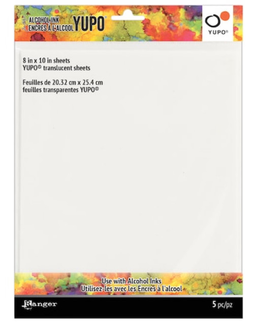 Ranger Alcohol Ink Yupo Translucent paper 8'' x 10'' 5 Pack