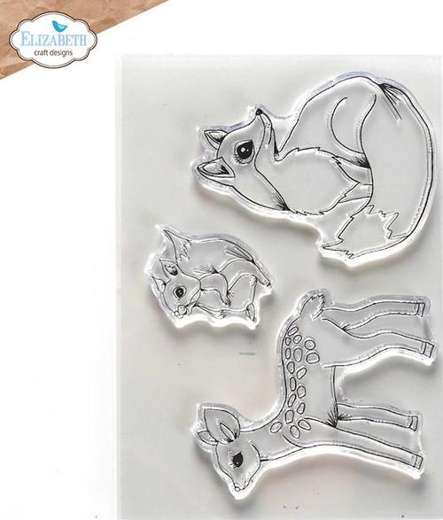 Elizabeth Craft Designs Woodland Critters Stamp Set
