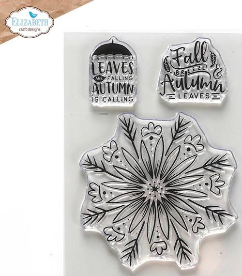 Elizabeth Craft Designs Autumn Leaves Stamp Set