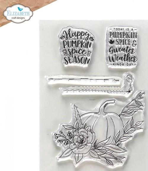 Elizabeth Craft Designs Pumpkin Spice Season Stamp Set
