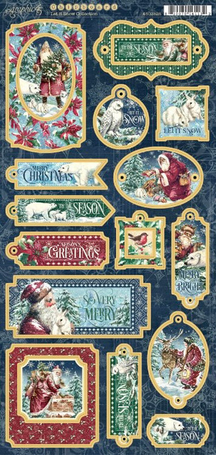 Graphic 45 Let It Snow Chipboard