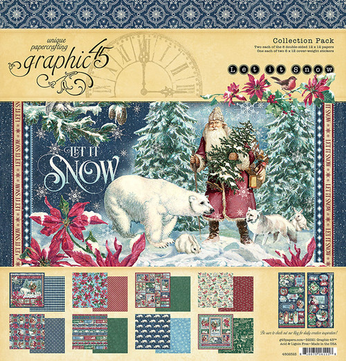 """Graphic 45 Let It Snow 12"""" x 12"""" Collection Pack"""