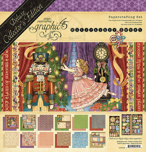 """Graphic 45 Nutcracker Sweet 12"""" x 12"""" Deluxe Collector's Edition"""