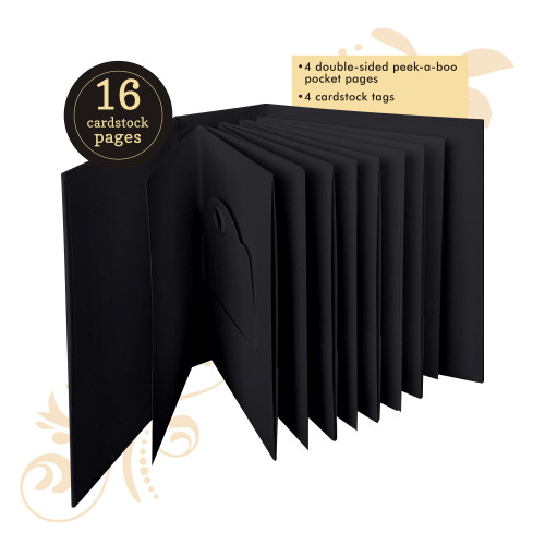 Graphic 45 Black ATC Tag & Pocket Album