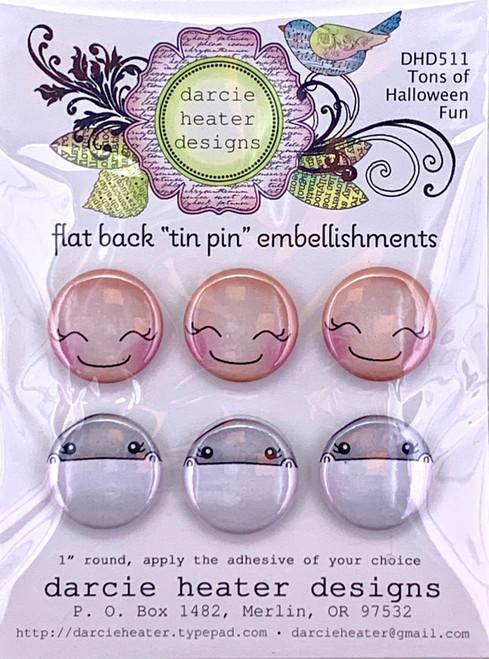 Darcie's Heart & Home Tons of Halloween Fun Flat Back Tin Pin Embellishment