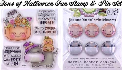Darcie's Heart & Home Tons of Halloween Fun Stamp & Pin Set