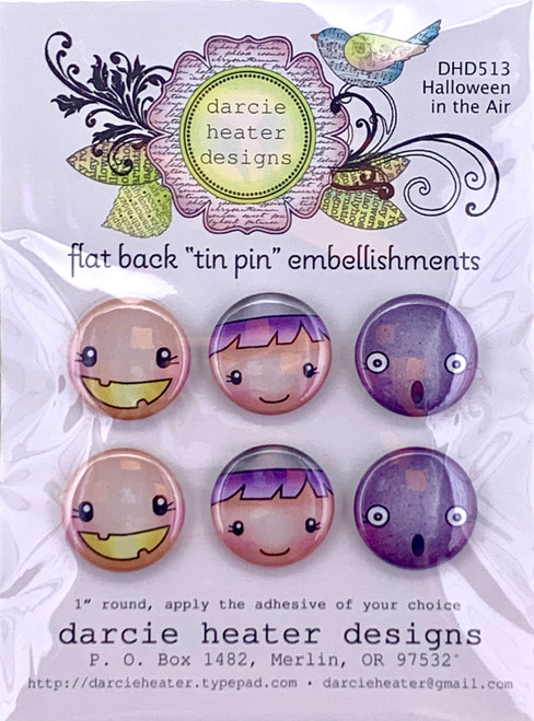 Darcie's Heart & Home Halloween in the Air Flat Back Tin Pin Embellishment