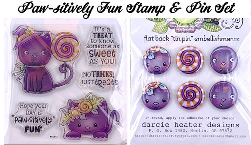 Darcie's Heart & Home Paw-sitively Fun Stamp & Pin Set