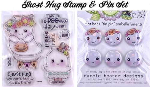Darcie's Heart & Home Ghost Hug Stamp & Pin Set