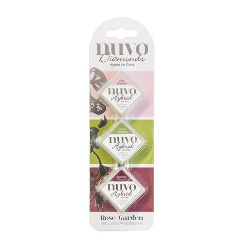 Nuvo Diamond Hybrid Ink Pads Set Rose Garden