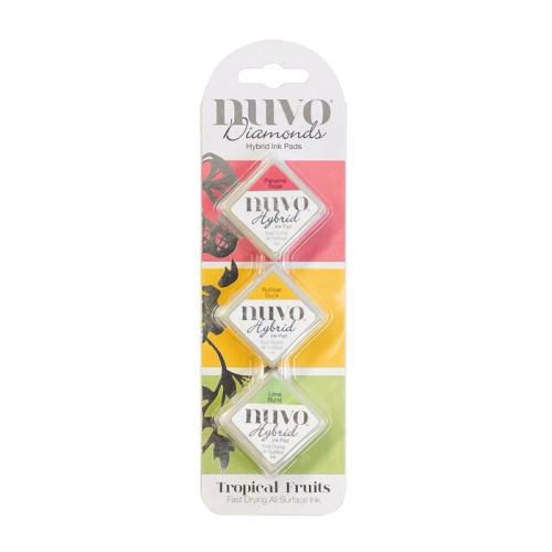 Nuvo Diamond Hybrid Ink Pads Set Tropical Fruits