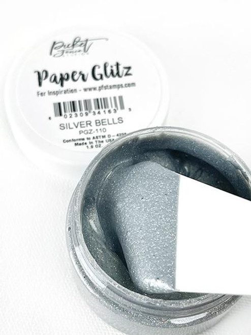 Picket Fence Studios Paper Glitz Silver Bells
