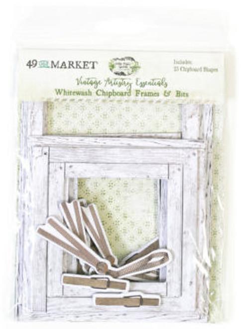 49 & Market Vintage Artistry Essentials – Whitewash Chipboard Frames