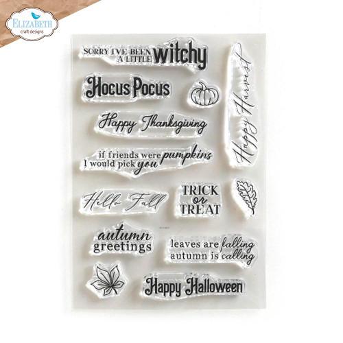 Elizabeth Craft Autumn Words Stamp Set