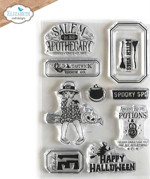 Elizabeth Craft Halloween Vibes Stamp Set