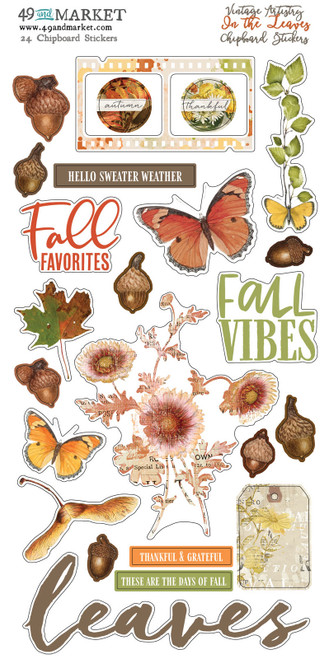 49 & Market Vintage Artistry In the Leaves – Chipboard Stickers