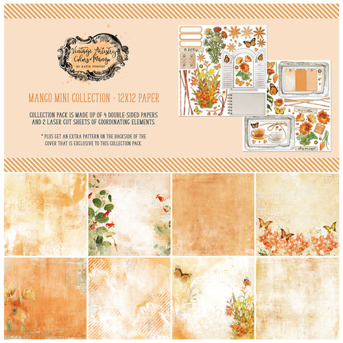 49 and Market Vintage Artistry Mango 12×12 Collection Pack