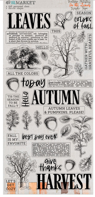 49 & Market Vintage Artistry In the Leaves - Washi Tape sheets