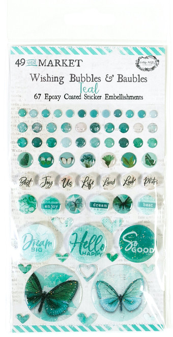49 & Market Vintage Teal – Wishing Bubbles and Baubles