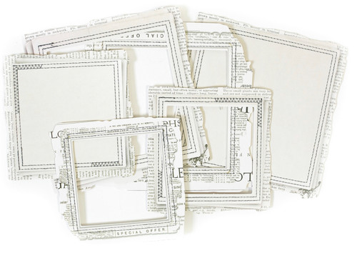 49 and Market Vintage Artistry Essentials - Square Stitched Frames