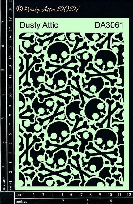 Dusty Attic Skull and Crossbone Stencil