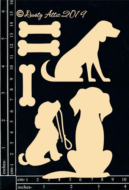 Dusty Attic Chipboard Dogs