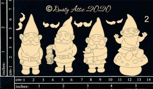 Dusty Attic Chipboard Gnomes #2