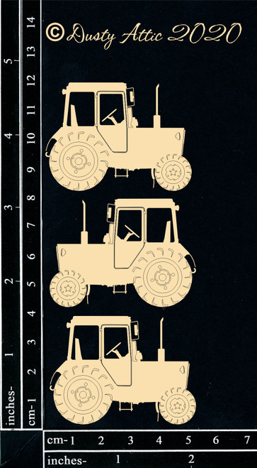Dusty Attic Chipboard Tractors Small