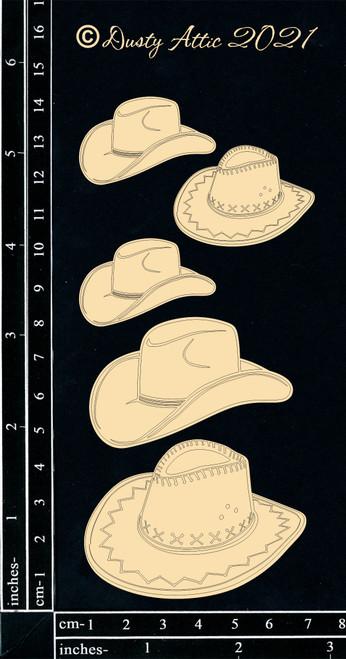 Dusty Attic Chipboard Cowboy Hats