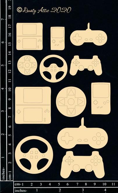 Dusty Attic Chipboard Gamer Icons