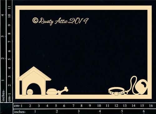 Dusty Attic Chipboard Dog Frame 6 x 4