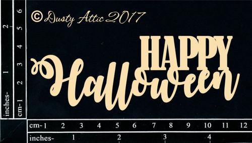 Dusty Attic Chipboard Happy Halloween