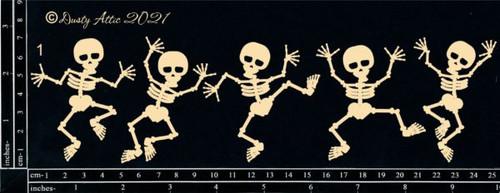 Dusty Attic Chipboard Dancing Skeletons #1