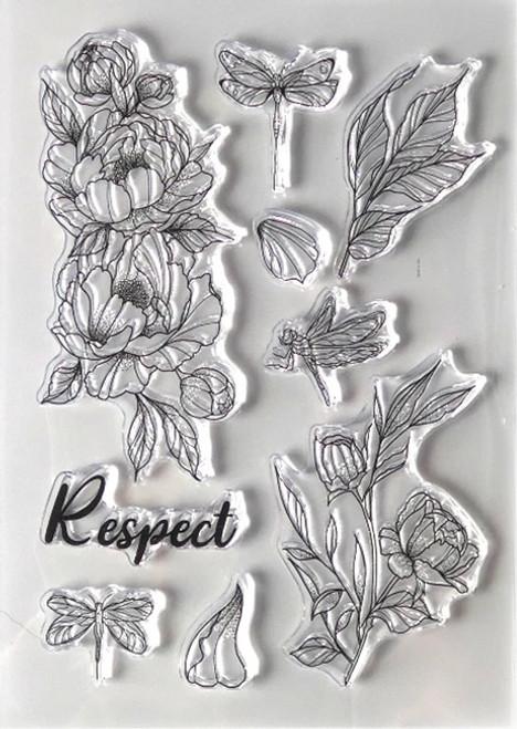 Elizabeth Craft Designs Respect Stamp Set