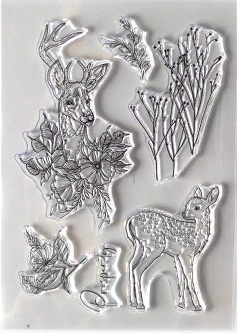 Elizabeth Craft Designs Prosperity Stamp Set