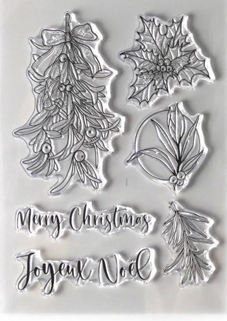 Elizabeth Craft Designs Joyeux Noel Stamp Set