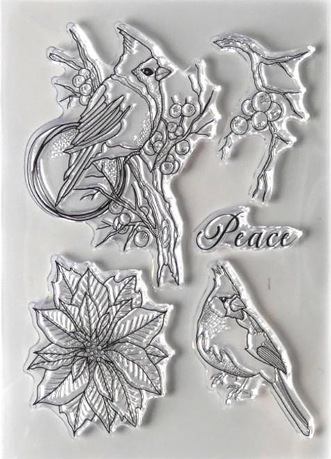 Elizabeth Craft Designs Birds of Peace Stamp Set