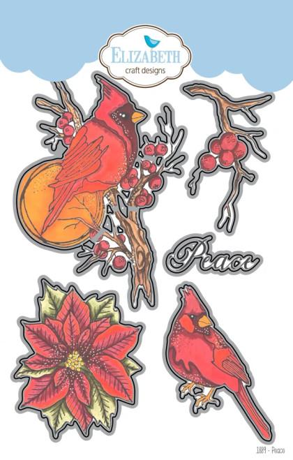 Elizabeth Craft Designs Birds of Peace Metal Die Set